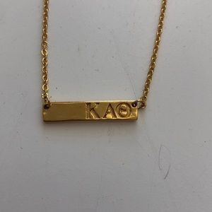 Kappa alpha theta gold necklace